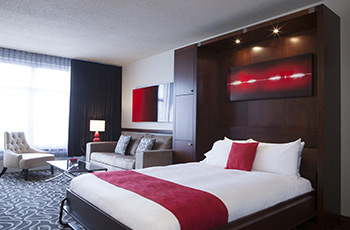 Deluxe suite with extra murphy bed at Le Saint-Sulpice Hôtel Montréal