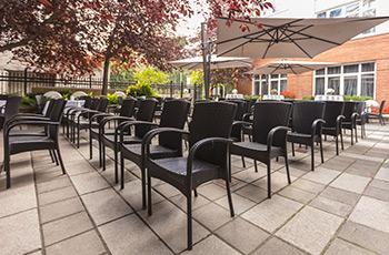 Événement sur la terrasse du restaurant Sinclair de l'Hôtel Le Saint-Sulpice