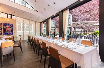 Réservation pour les groupes dans le restaurant Sinclair de l'Hôtel Le Saint-Sulpice