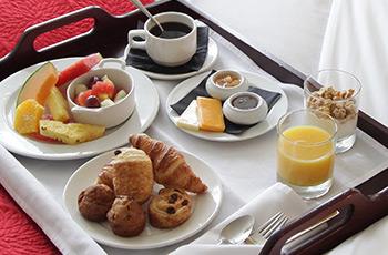 Room service at Le Saint-Sulpice Hôtel Montréal