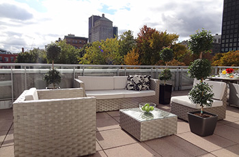 Signature suite rooftop terrace 622 of the Le Saint-Sulpice Hôtel Montréal