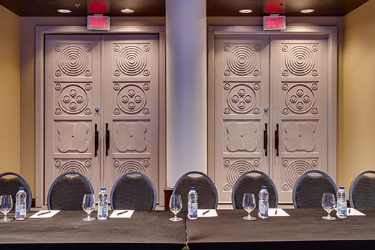 Doors of Meeting Room Le Moyne-LeBer in Old Montreal
