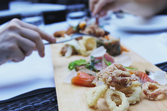 Assiette Gastronomique du Restaurant Sinclair situé dans le Vieux-Montréal