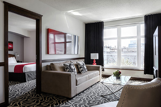Deluxe Suite of Saint-Sulpice Hotel in Old Montreal