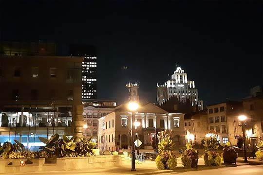 Montreal Old Port by night