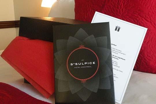 Pour la St Valentin offrez une carte cadeau pour un séjour au Saint-Sulpice Hôtel Montréal