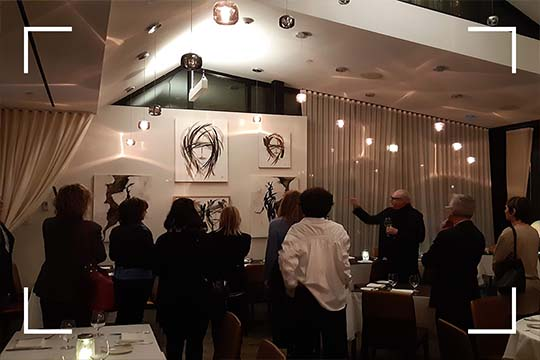 Discover the opening of a Jean-Claude Poitras exhibition, a  private event in Montreal 9ranized bywith Lethe Saint-Sulpice Hotel. Just SoSulpice!