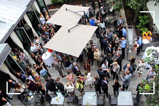 Enjoy a great private event in Montreal with the opening of our terrace at the Saint-Sulpice Hotel.