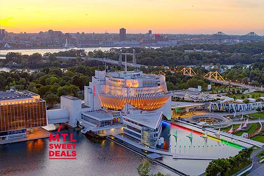 Book our new Montreal sweet deal offer including a credit card available in Montreal restaurants and a stay at le Saint-Sulpice Hotel