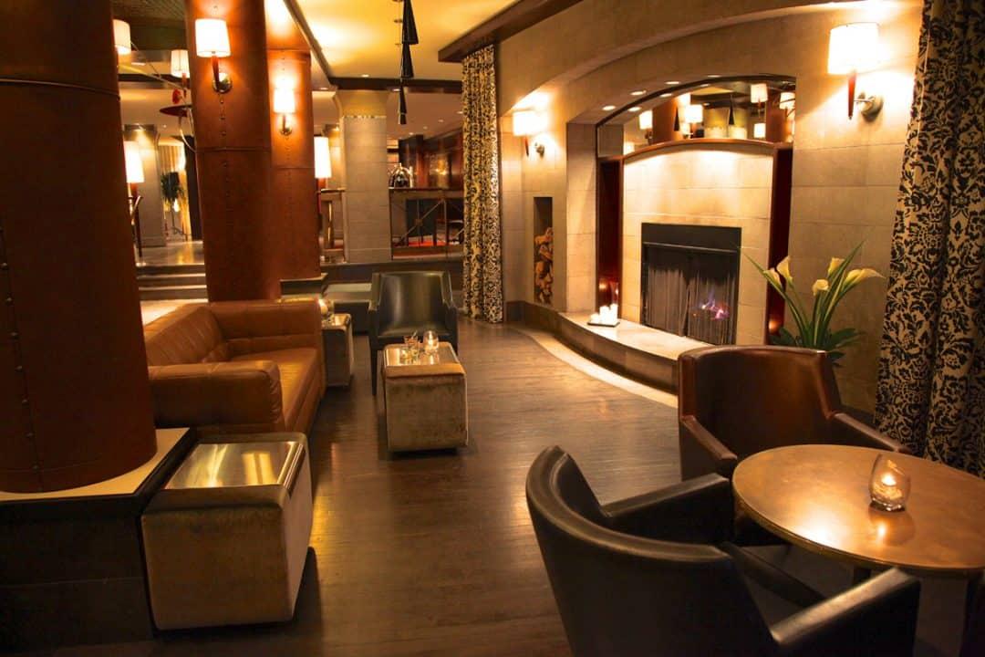The inviting lobby